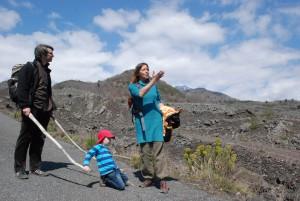 mit Kind und Lava
