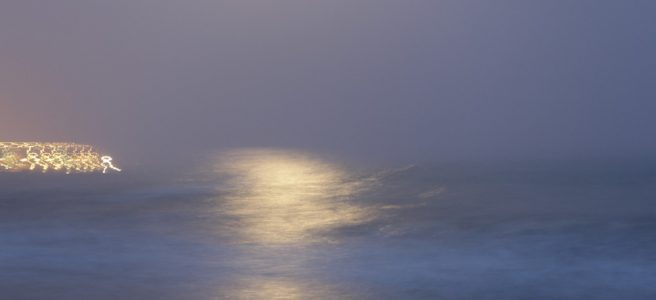 Vollmondglanz im Meer