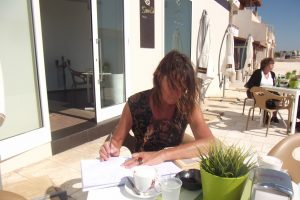 Punta Secca-Schreiben am Meer