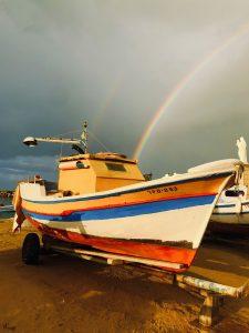 Regenbogen in Punta Secca