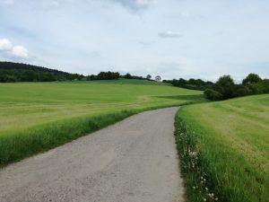 Hügelland in Fambach, Thüringen